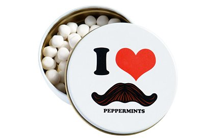(Moustache I Love Moustache Peppermints Candy Tin (Boston)