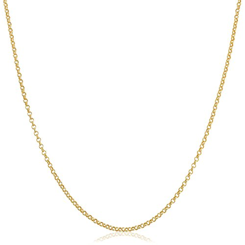 Rolo 14k (Kooljewelry 14k Yellow Gold Filled 1mm Rolo Chain Necklace (24