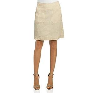 Foxcroft Womens Linen Patch-Pocket Pencil Skirt Beige XL