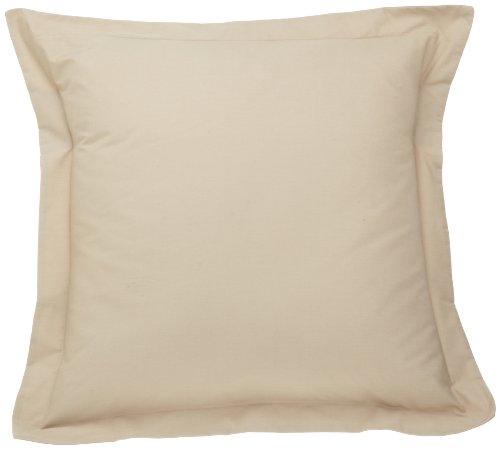 Fresh Ideas Tailored Poplin Pillow Shams – Gorgeous Decorative Bed Pillowcover – Mocha, European, 1 PC (26 x 26 Inches) (Beige Sham Euro)