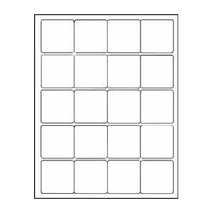 Amazoncom 12 sheets 240 2quotx2quot inch square white for 2x2 label template