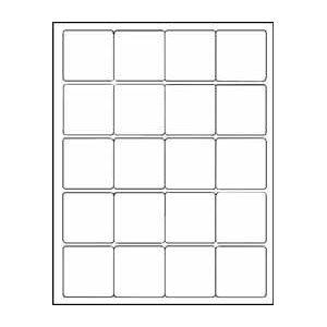 amazon com 12 sheets 240 2 x2 inch square white stickers for