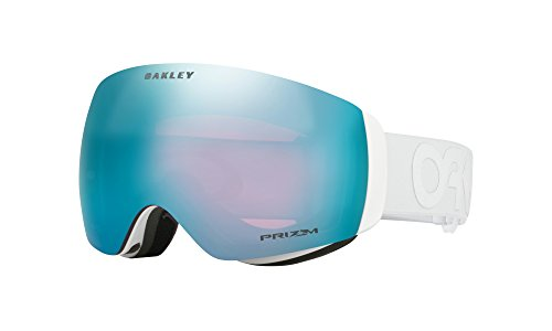 Oakley Flight Deck XM Snow Goggles, Factory Pilot Whiteout, Prizm Sapphire Iridium, - Goggles White Oakley