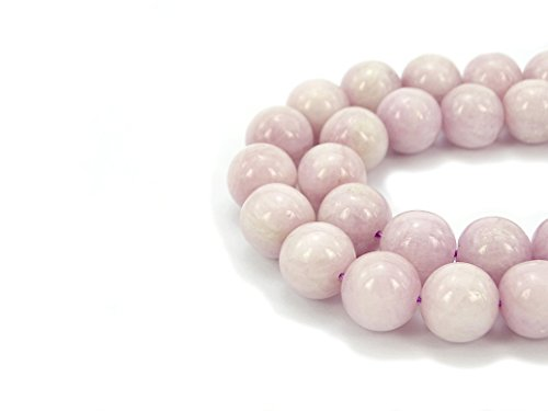 jennysun2010 Natural Kunzite Gemstone 6mm Smooth Round Loose 60pcs Beads 1 Strand for Bracelet Necklace Earrings Jewelry Making Crafts Design Healing