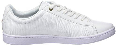 Lacoste Carnaby Evo 118 2 Spm, Sneaker Uomo Bianco (Wht/Lt Tan)