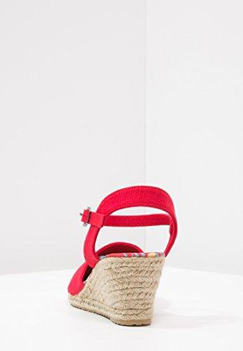 rosso con Alto Spadrillas Donna Zeppa Sandali Canvas Cinturino Tramite Anna da Tela Tacco Donna Chiusura Field Estivi con in da con in Espandrillas nWcnBqzSp