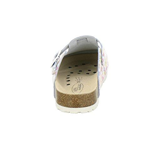 2190010 de blanco para Piel AFS mujer Zuecos Schuhe Tq1Hx65