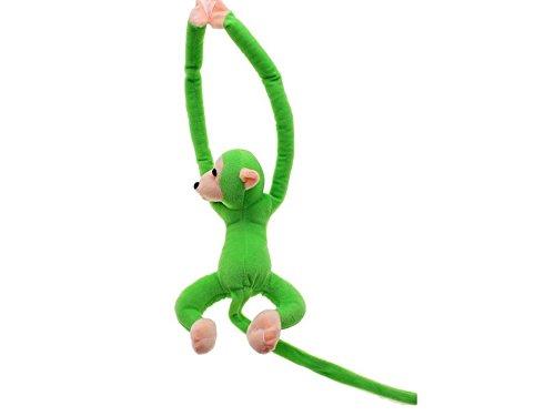 sea-junop Lovely Soft Long Arm Tail Animals Hanging Plush Monkey Gibbon Toy (Green)