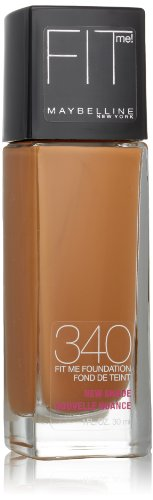Maybelline New York Fit Me! Foundation, 340 Cappuccino, 1.0 Fluid Ounce