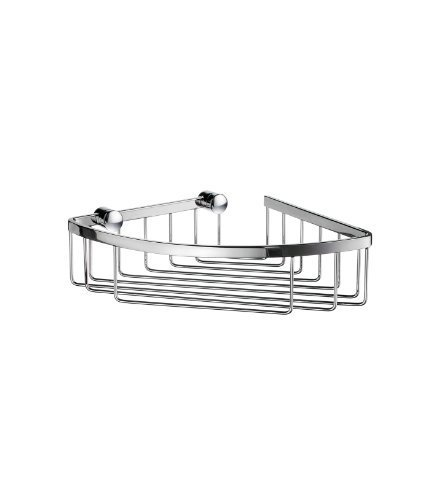 Sideline 6.5 in. Corner Soap Basket in Polished Chrome Finish by Smedbo