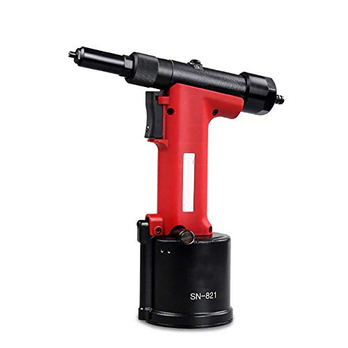 High Strength SN-821 Pneumatic Rivet Gun, Industrial Grade Stainless Steel Rivet Gun Automatic Suction Nail Multifunction and Ergonomic