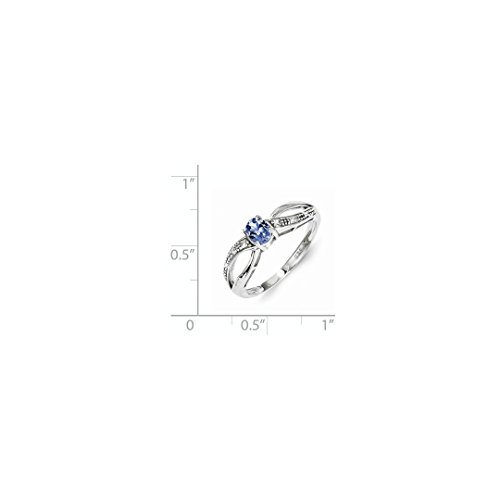 ICE CARATS 925 Sterling Silver Diamond Blue Tanzanite Band Ring Size 6.00 Gemstone Fine Jewelry Ideal Mothers Day Gifts For Mom Women Gift Set From Heart by ICE CARATS (Image #3)