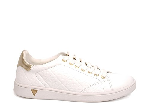 White Toile Chaussures Lady Guess Super Basses 5wpqFTF