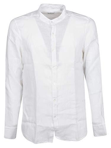 Bagutta Men's Elcn0045006994001 White Linen Shirt