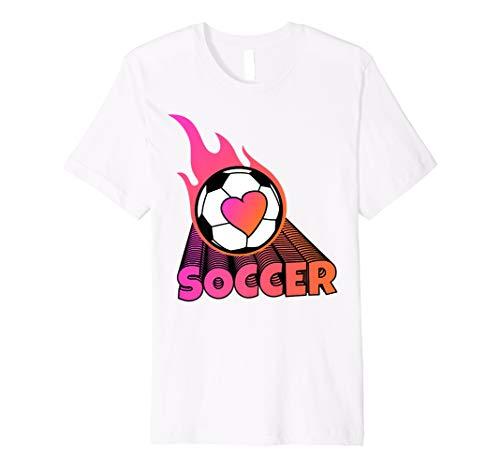 Cute Flaming Pink Soccer Ball Premium - Flaming T-shirt Ball Soccer