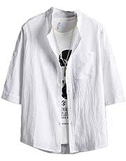 DUe Men Short Sleeve Relaxed Breathable Summer Oversized Western Shirt