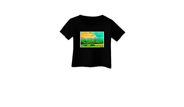 TooLoud Mountain Sunset Infant T-Shirt Dark