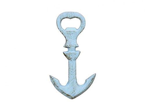 Cheap Hampton Nautical k-1086b-solid-light-blue Rustic Light Blue Cast Iron Anchor Bottle Opener 5″ – Cast Iron Decoration – Antique Vintage Cast Iron