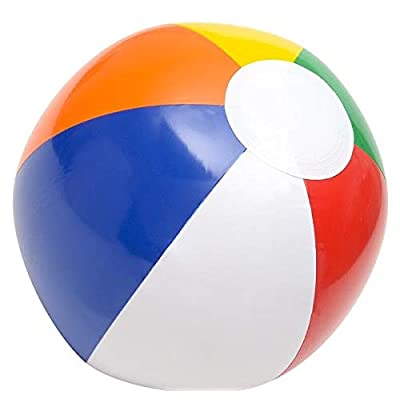 Rhode Island Novelty Inflatable 12 Inch Multicolored Beach Balls, Set of 36: Toys & Games