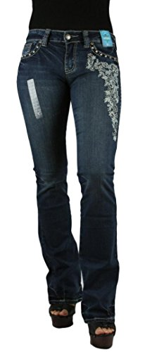 montana-west-trinity-ranch-womens-floral-studded-bootcut-blue-jeans-waist-5