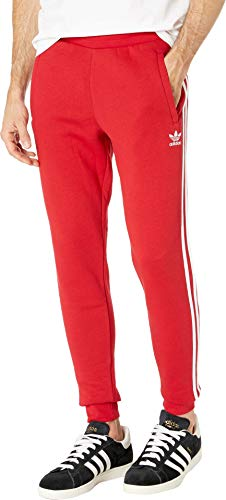(adidas Originals Men's 3-Stripes Pants Power Red Small 28)