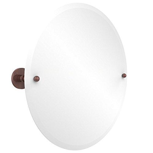 - Allied Brass P1090-CA Frameless Round Tilt Mirror with Beveled Edge, Antique Copper