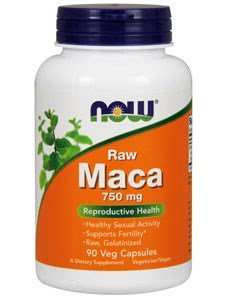 NOW Foods Raw Maca 750mg 6:1, 90 Vcaps (Pack of 3)