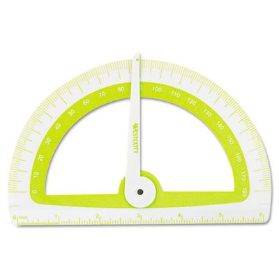 Soft Touch School Protractor With Microban Protection, Assorted Colors, Sold as 2 Each