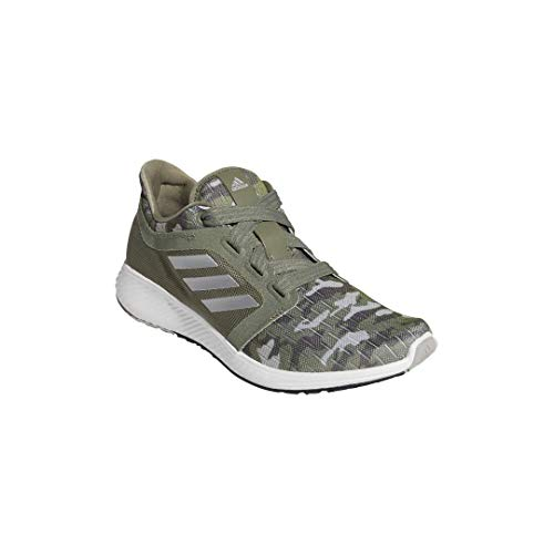 adidas Women's Edge Lux 3 Running Shoe, Legacy Green/Silver Metallic/Grey, 12 M US