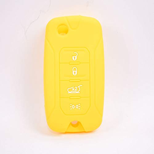 Silicone key cover case For Jeep Renegade 2016 4 Buttons Folding Remote Key