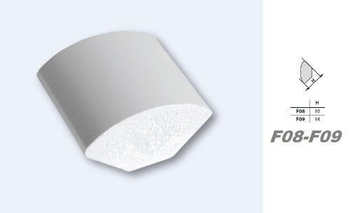 2/m PVC Moulure plastique Profil/é dangle Stuc D/écor antichoc 14/x 14/mm F09