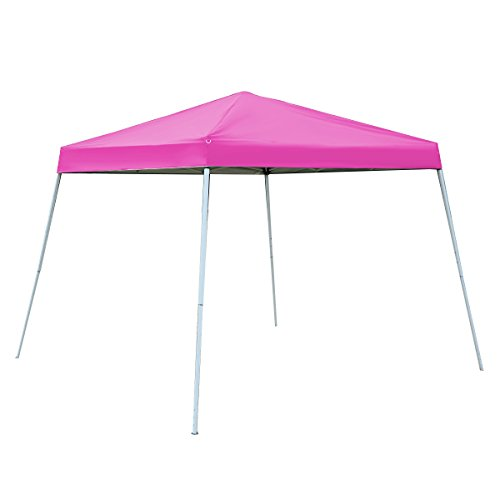 Tangkula 10'X10' EZ POP UP Tent Gazebo Wedding Party Canopy Shelter Carry Bag (Pink)