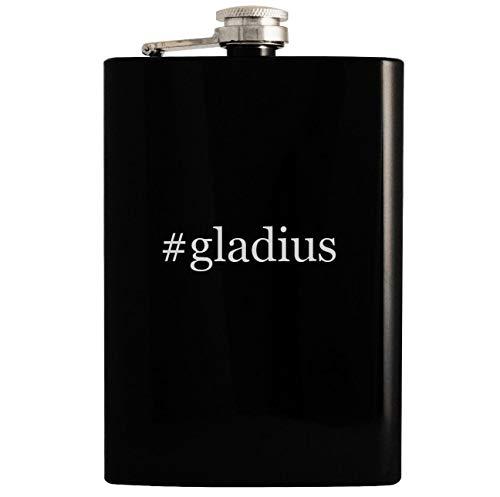 Gladius Night Tactical Ops Flashlight - #gladius - 8oz Hashtag Hip Drinking Alcohol Flask, Black