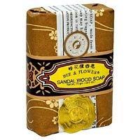 Flower Sandalwood Soap - Bee And Flower Sandalwood Bar Soap, 4.4 Ounce - 4 per case.