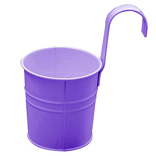 (Garden Tools,dezirZJjx Solid Color Plastic Hanging Flower Pot Balcony Garden Plant Holder Home Decor - Purple)
