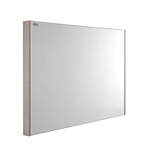 VALENZUELA Fine 48 Inch Bathroom Vanity Mirror, Wall Mount, Slim Frame, Nature Finish (VE70120600) by DAX