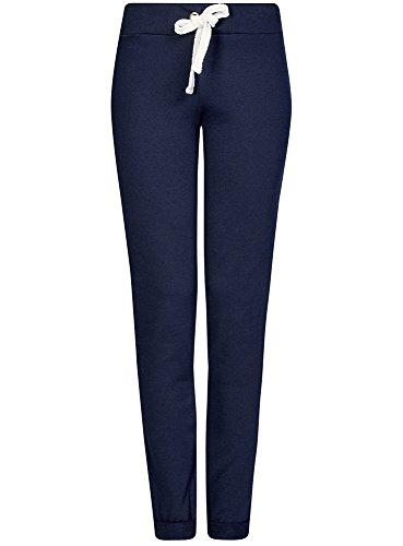 oodji Ultra Mujer Pantalones de Punto Deportivos Azul (7900N)