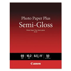Plus Semi Gloss 50 Sheets - Photo Paper Plus Semi-Gloss, 69 Lbs., 8-1/2 X 11, 50 Sheets/pack By: Canon