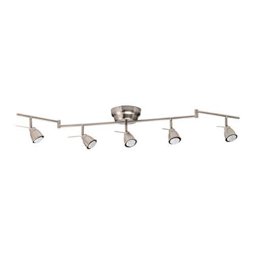 purchase cheap 6210a 753e4 Ikea Ceiling track, 5-spots, nickel plated 626.20817.346