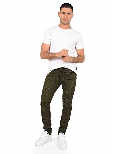 À Doublure Lacet Paris Homme X Project Jeans Kaki Ceinture Biker Slim q0cXYxZ