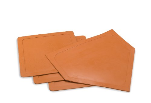 Athletic Specialties 4 Piece Throw Down Base Set (Orange) by Athletic Specialties