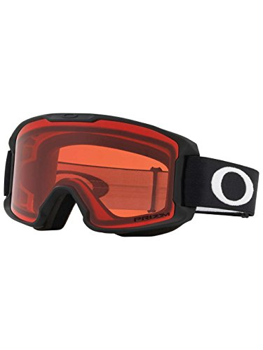Oakley Line Miner Youth Snow Goggle, Matte Black, Small, Prizm Rose Lens by Oakley