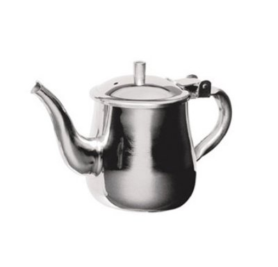 Stainless Steel Gooseneck Tea Pot w/ Vented Hinged Lid, 10 Fluid Ounces (1 - 2 Cups) by Pride Of India (Glass Teapot Adagio Teas)