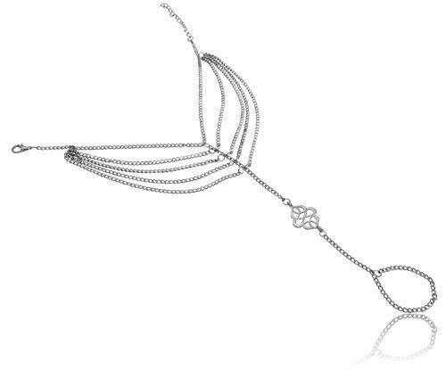 - Bienvenu 2Pcs Foot Jewelry Chain Barefoot Sandal Bracelet Anklet Bohemian Style Multi Chains