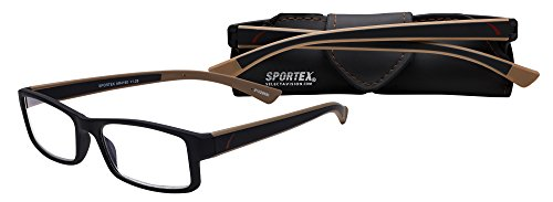 Sportex Readers 4060 Reading Glasses, Ultra Lightweight, Comfortable, Stylish Performance Inspired and Durable Glasses, Scratch Resistant for Distortion Free Reading. Includes Matching - Performance Eyewear