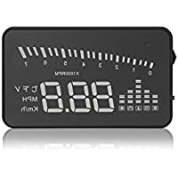 Arpenkin X5 HUD 3 Universal Multi-function Vehicle-mounted Heads up Display for Cars Windshield Compatible with OBD II EOBD System Model Cars