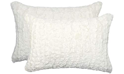 2-Pack Belton Ultra-Soft Plush Faux Sheepskin Fur Pillow 12