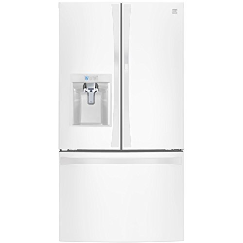 Kenmore Elite 74032 29.6 cu. ft. French Door Bottom Freezer Refrigerator with Grab-N-Go Door in White, includes delivery and hookup (Available in select cities only)