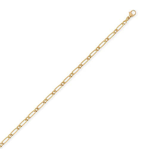 DIAMANTLY Collier or 750 goutte ovale alterne creux 2,9 mm - 50 cm