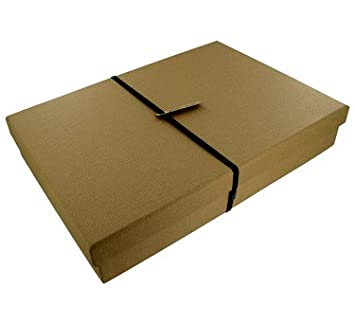 Paperchase Shirt Gift Box. Kraft Ribbed Design: Amazon.co.uk: Office Products